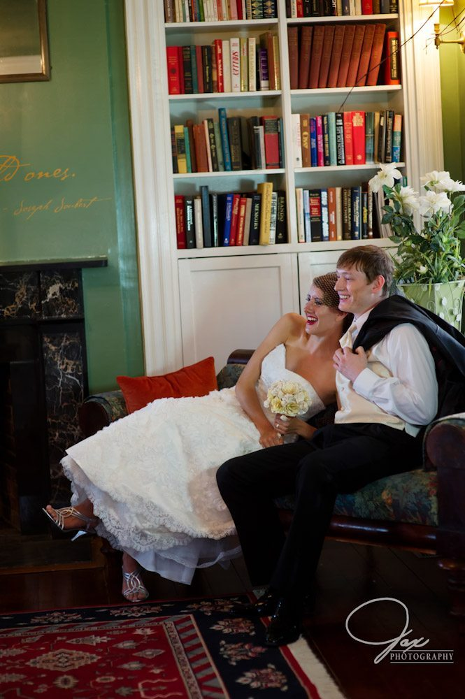 Bride and Groom Reception The Inn At Brome Howard