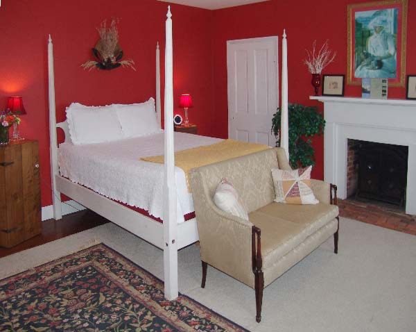 The Red Room at The Inn At Brome Howard