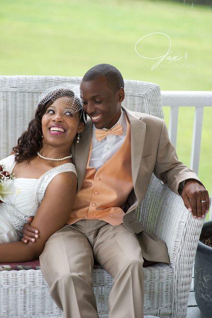 Happy Couple at Wedding Reception